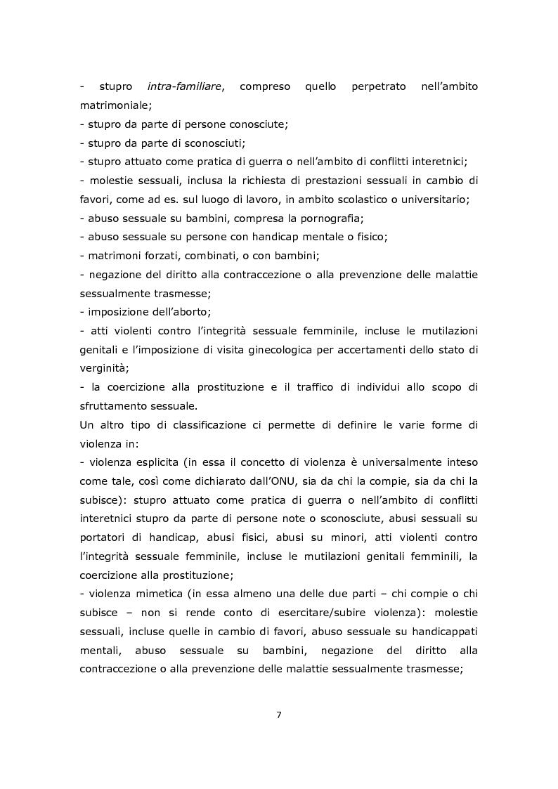 Anteprima della tesi: La gestione e l'approccio dell'infermiere forense alla donna vittima di abusi sessuali, Pagina 5