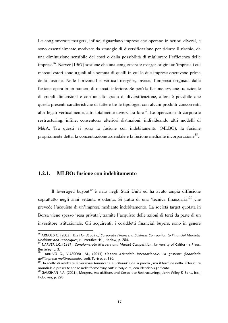 Anteprima della tesi: Fusioni e Acquisizioni: il caso Intesa Sanpaolo., Pagina 13