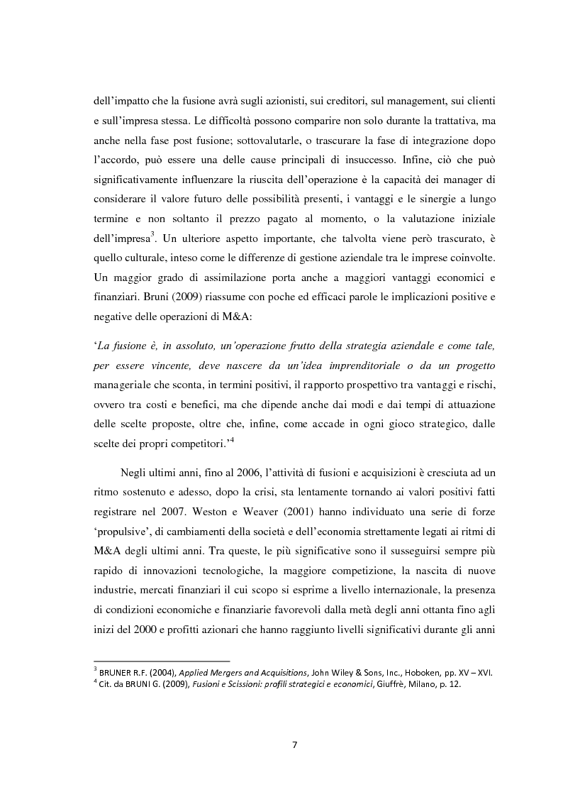Anteprima della tesi: Fusioni e Acquisizioni: il caso Intesa Sanpaolo., Pagina 3