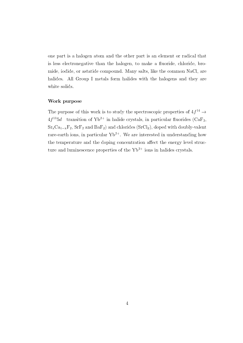 Anteprima della tesi: f-d Transitions of Divalent Ytterbium Ions in Halide Crystals, Pagina 5