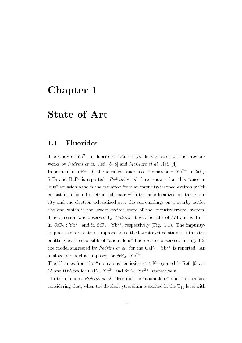 Anteprima della tesi: f-d Transitions of Divalent Ytterbium Ions in Halide Crystals, Pagina 6