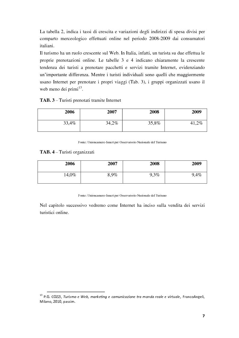 Anteprima della tesi: Il Web Marketing e la Vendita dei Servizi Turistici Online, Pagina 10