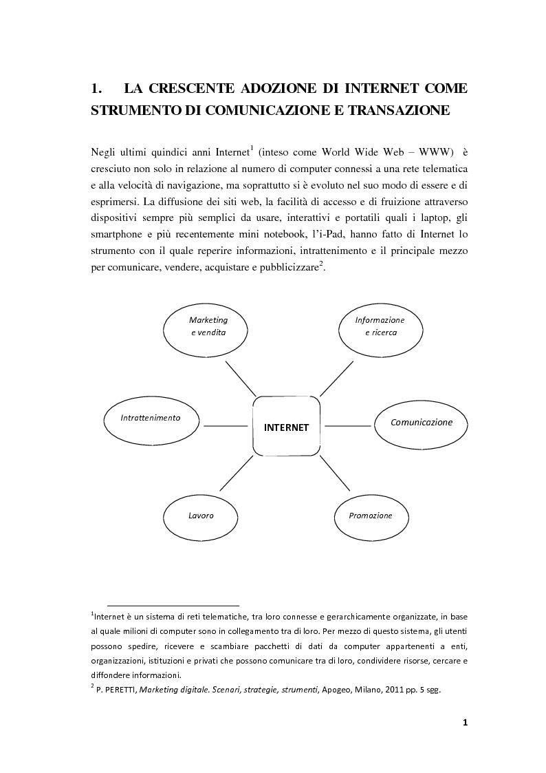 Anteprima della tesi: Il Web Marketing e la Vendita dei Servizi Turistici Online, Pagina 4