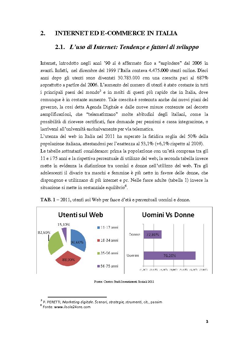 Anteprima della tesi: Il Web Marketing e la Vendita dei Servizi Turistici Online, Pagina 6