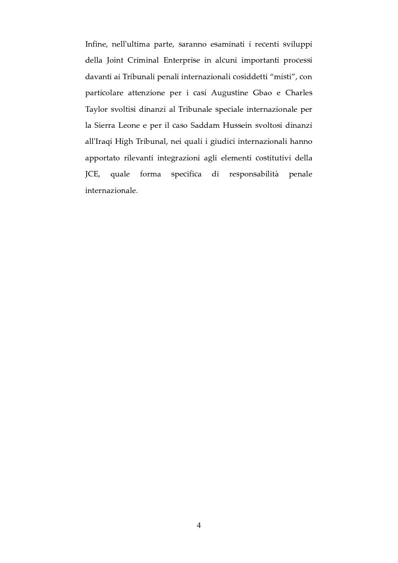 Anteprima della tesi: Nuove forme di responsabilità penale internazionale dell'individuo: La Joint Criminal Enterprise , Pagina 3