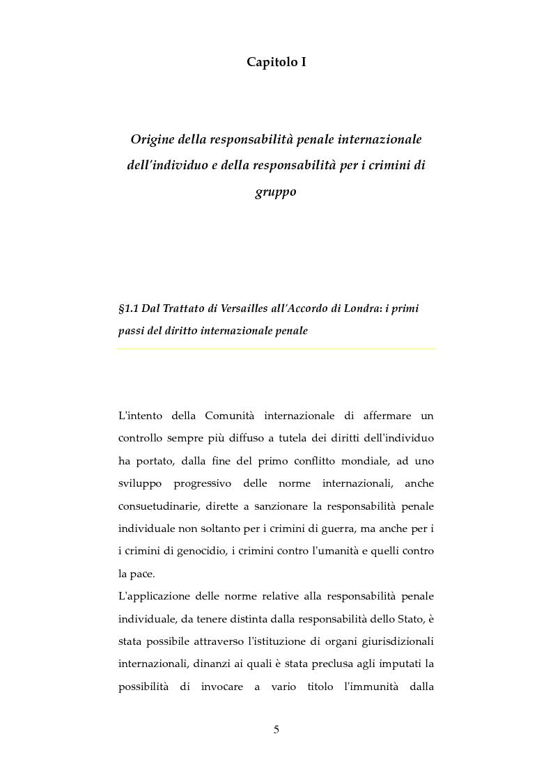 Anteprima della tesi: Nuove forme di responsabilità penale internazionale dell'individuo: La Joint Criminal Enterprise , Pagina 4