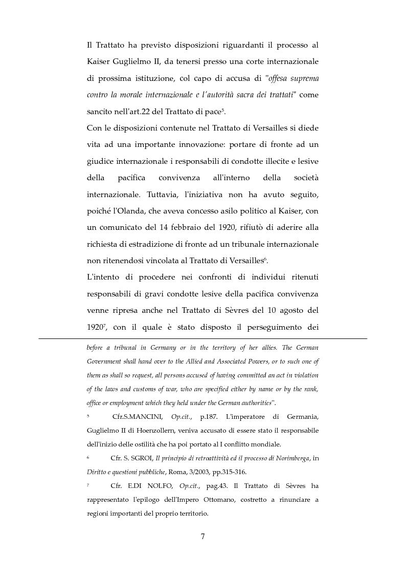 Anteprima della tesi: Nuove forme di responsabilità penale internazionale dell'individuo: La Joint Criminal Enterprise , Pagina 6
