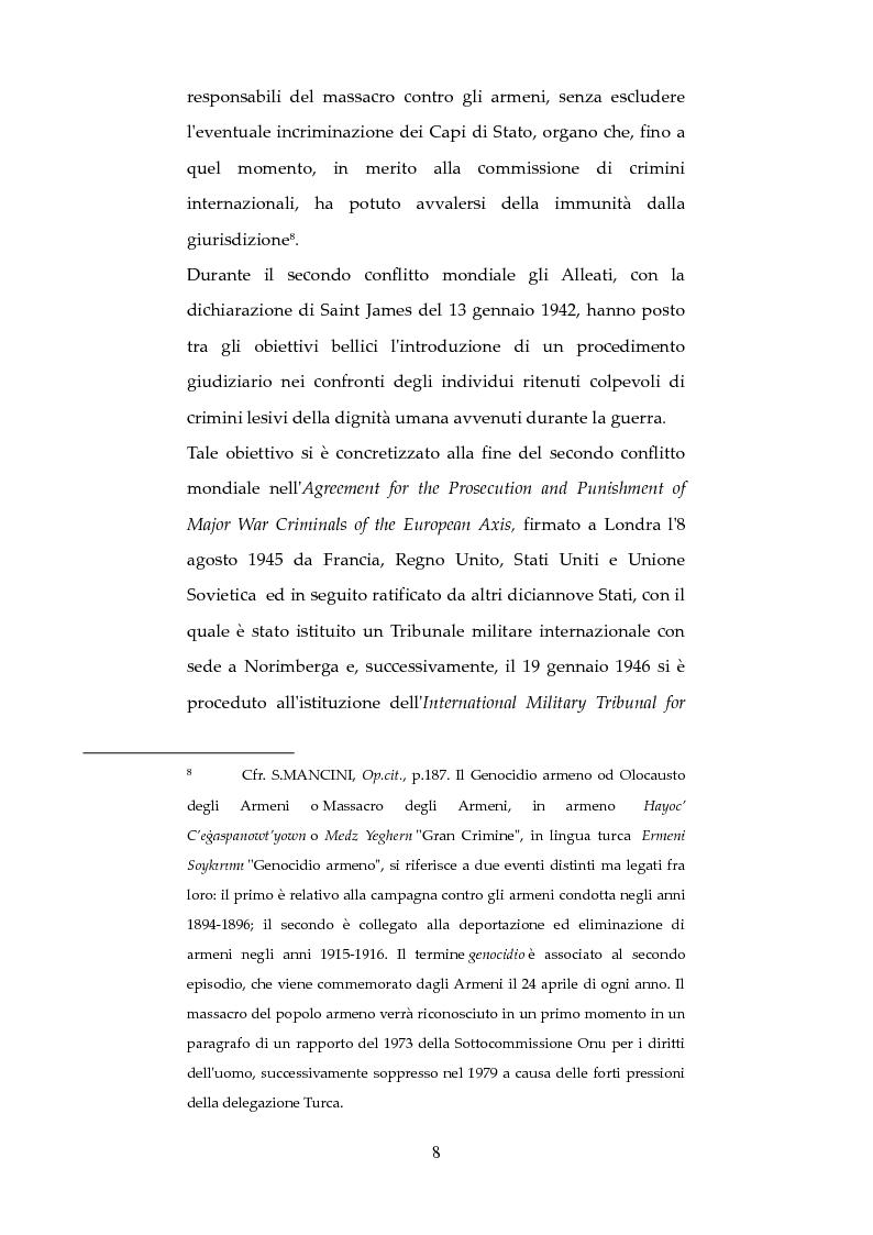 Anteprima della tesi: Nuove forme di responsabilità penale internazionale dell'individuo: La Joint Criminal Enterprise , Pagina 7