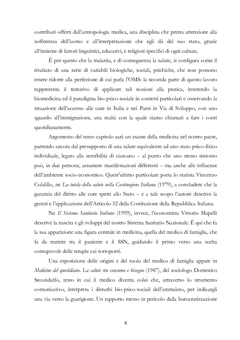 Anteprima della tesi: Politiche della salute. Percorsi critici della medicina contemporanea, Pagina 6