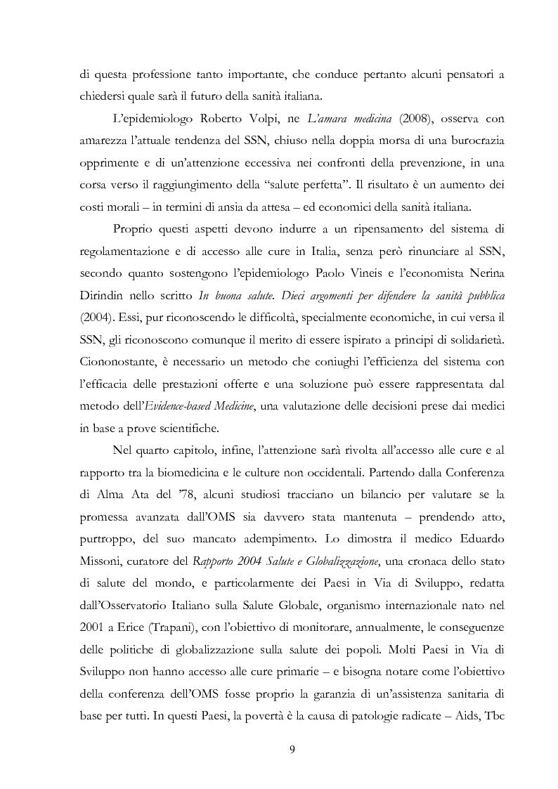Anteprima della tesi: Politiche della salute. Percorsi critici della medicina contemporanea, Pagina 7