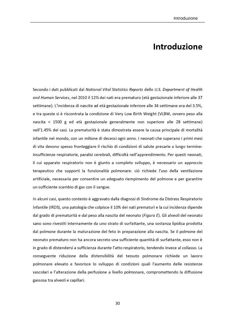 Anteprima della tesi: Modello matematico di interazione tra emodinamica e ventilazione meccanica ad alta frequenza respiratoria in neonati pretermine, Pagina 2
