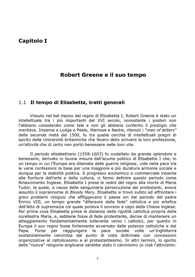Anteprima della tesi: The Mourning Garment: Robert Greene agli albori del romanzo moderno, Pagina 2