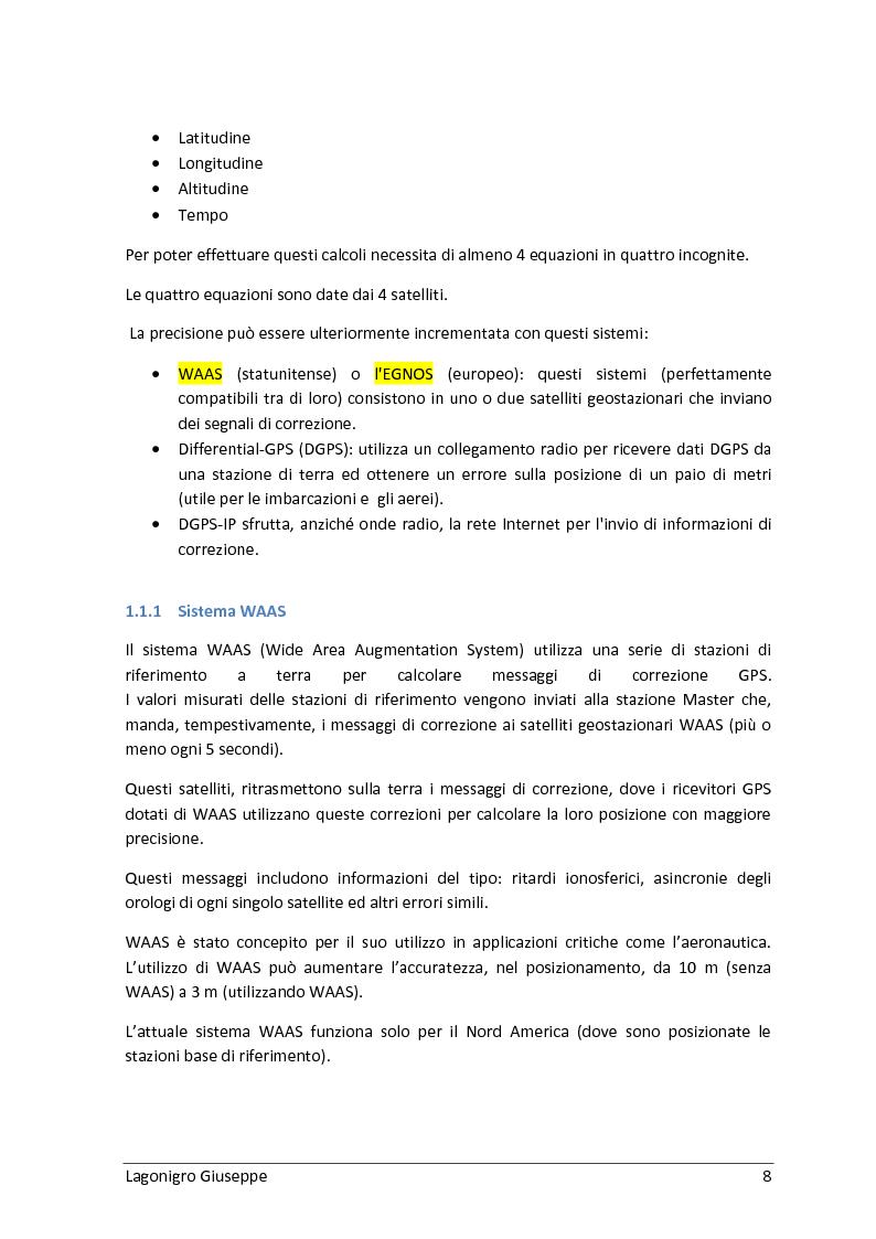 Anteprima della tesi: Sviluppo hardware e software di un sistema di fleet management basato su sistema GPS/GSM, Pagina 4