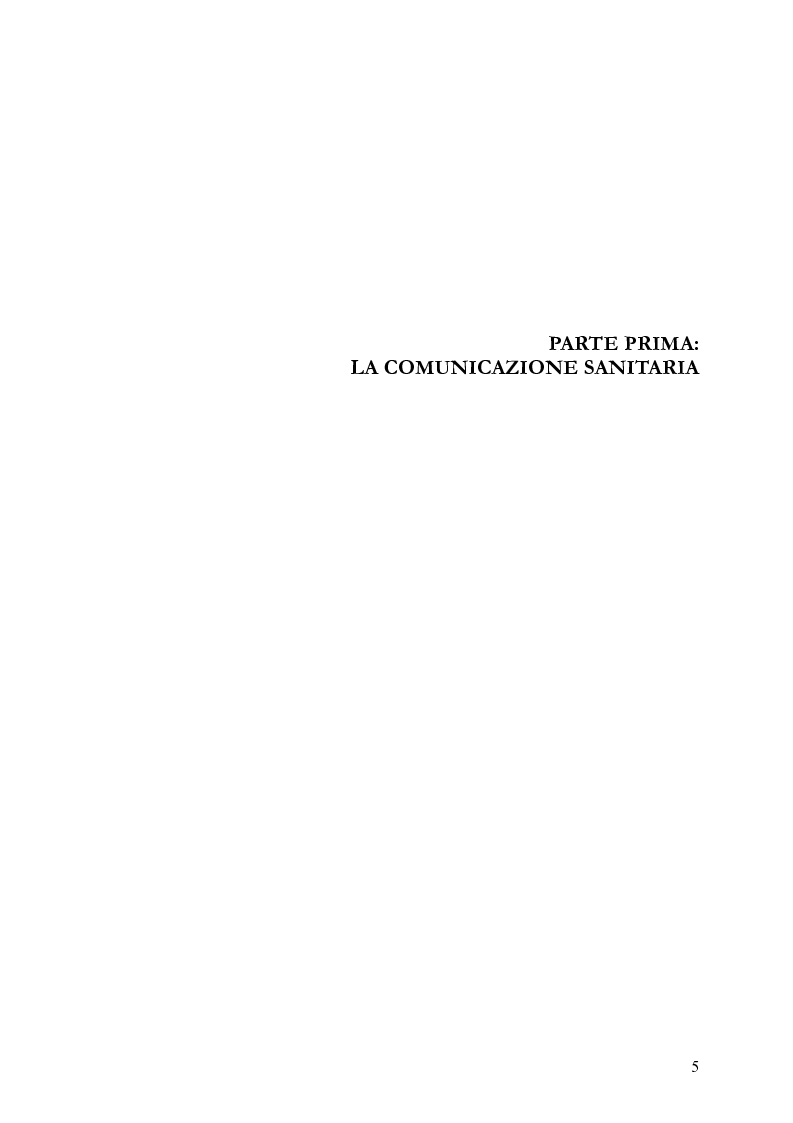 Anteprima della tesi: La comunicazione nelle aziende sanitarie. Il caso dell'Ospedale Riabilitativo di Alta Specializzazione di Motta di Livenza, Pagina 4