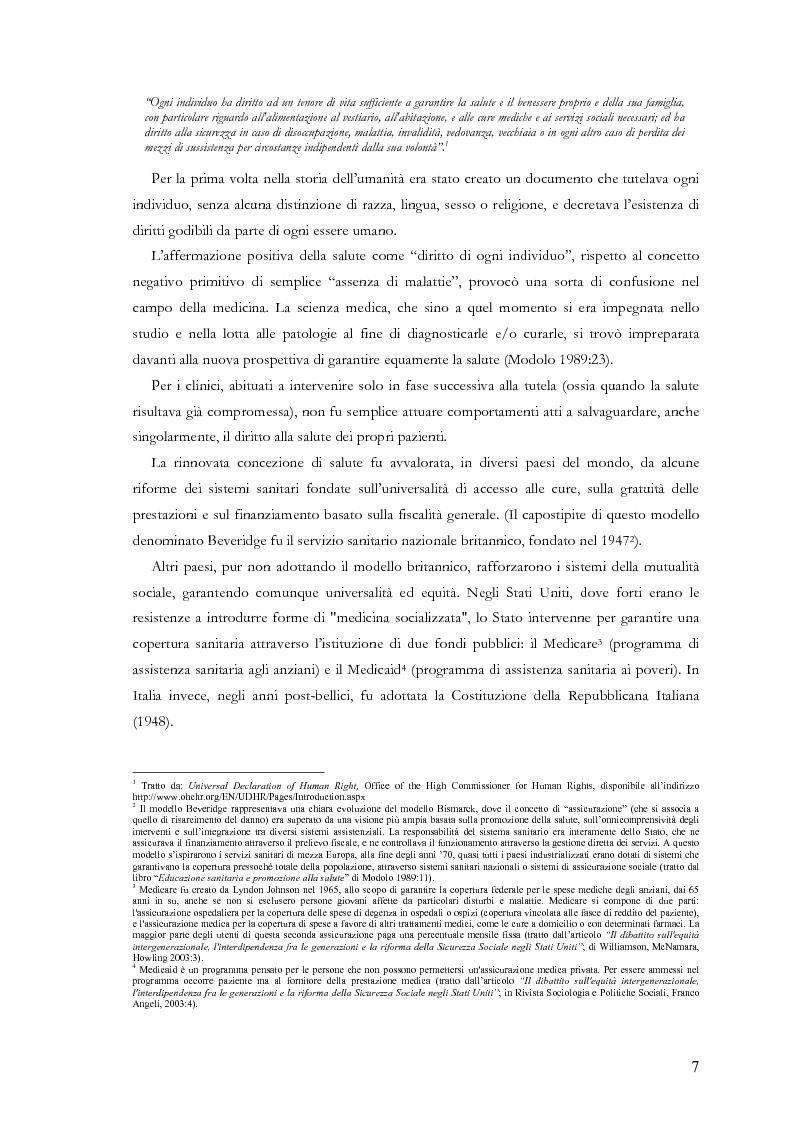 Anteprima della tesi: La comunicazione nelle aziende sanitarie. Il caso dell'Ospedale Riabilitativo di Alta Specializzazione di Motta di Livenza, Pagina 6