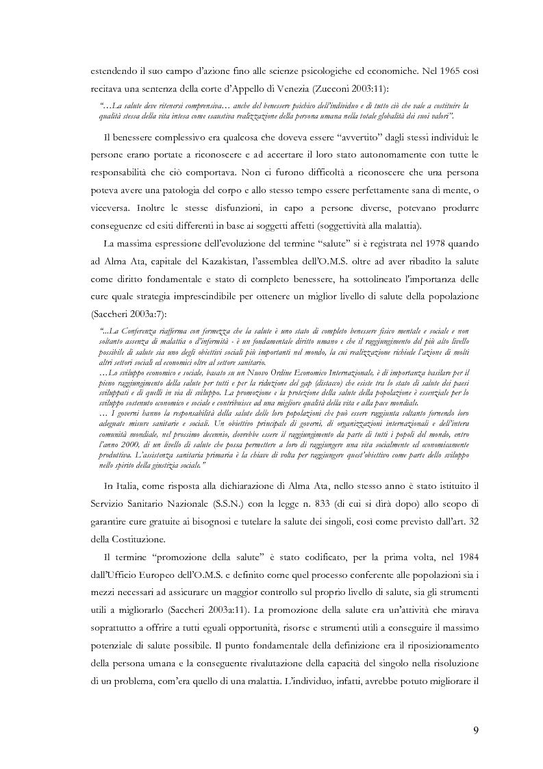 Anteprima della tesi: La comunicazione nelle aziende sanitarie. Il caso dell'Ospedale Riabilitativo di Alta Specializzazione di Motta di Livenza, Pagina 8