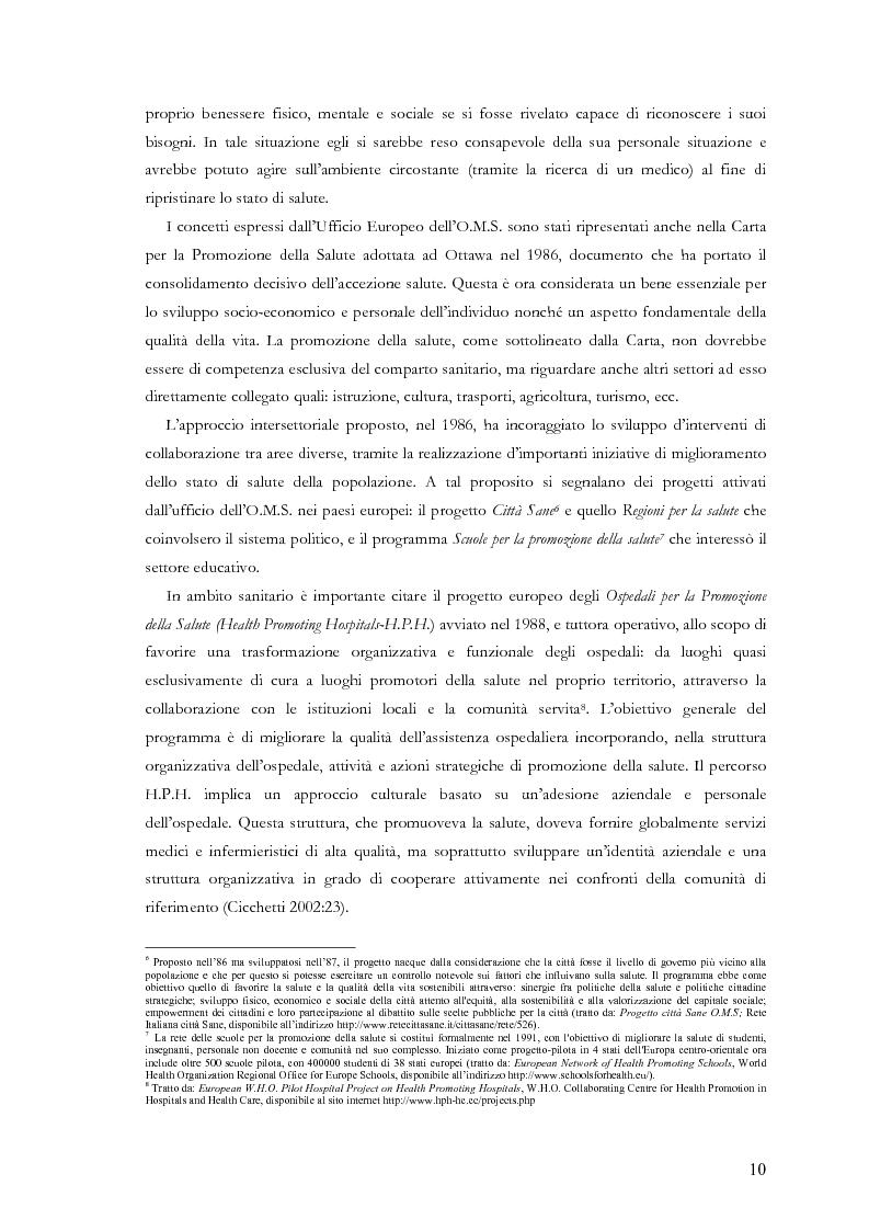 Anteprima della tesi: La comunicazione nelle aziende sanitarie. Il caso dell'Ospedale Riabilitativo di Alta Specializzazione di Motta di Livenza, Pagina 9
