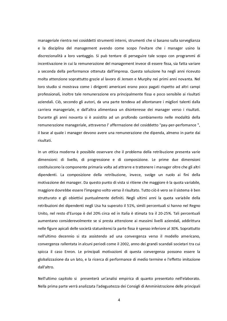 Anteprima della tesi: La conformità dei sistemi di remunerazione dei top manager: un'analisi empirica, Pagina 3