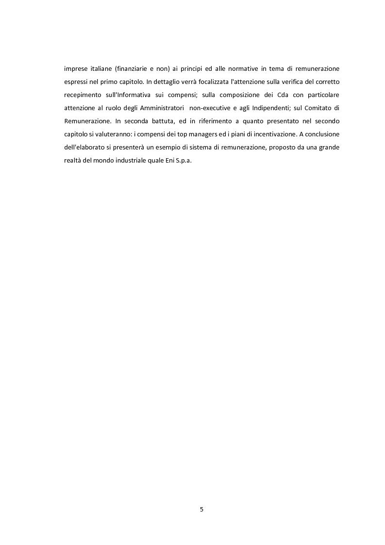 Anteprima della tesi: La conformità dei sistemi di remunerazione dei top manager: un'analisi empirica, Pagina 4