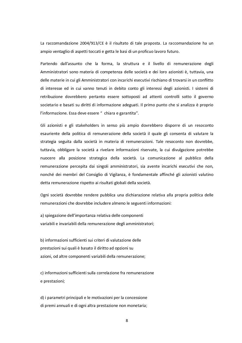 Anteprima della tesi: La conformità dei sistemi di remunerazione dei top manager: un'analisi empirica, Pagina 6