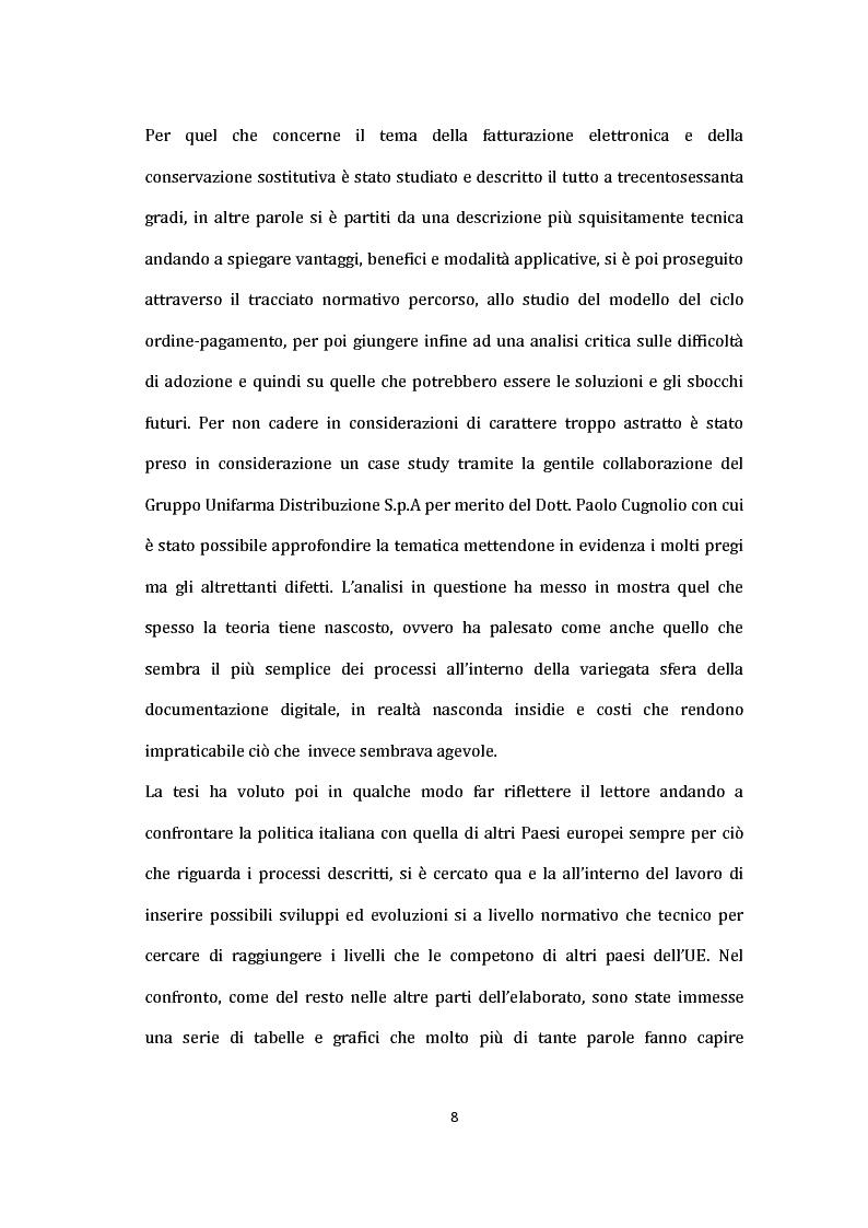Anteprima della tesi: La Fatturazione Elettronica e Sistemi IT Nel Contesto Europeo: Analisi di un caso aziendale, Pagina 3