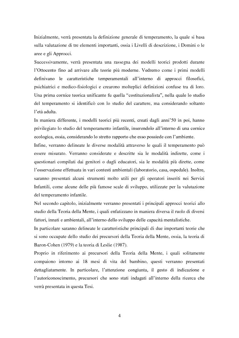 Anteprima della tesi: Differenze individuali e Teoria della Mente: il ruolo del Temperamento, Pagina 3