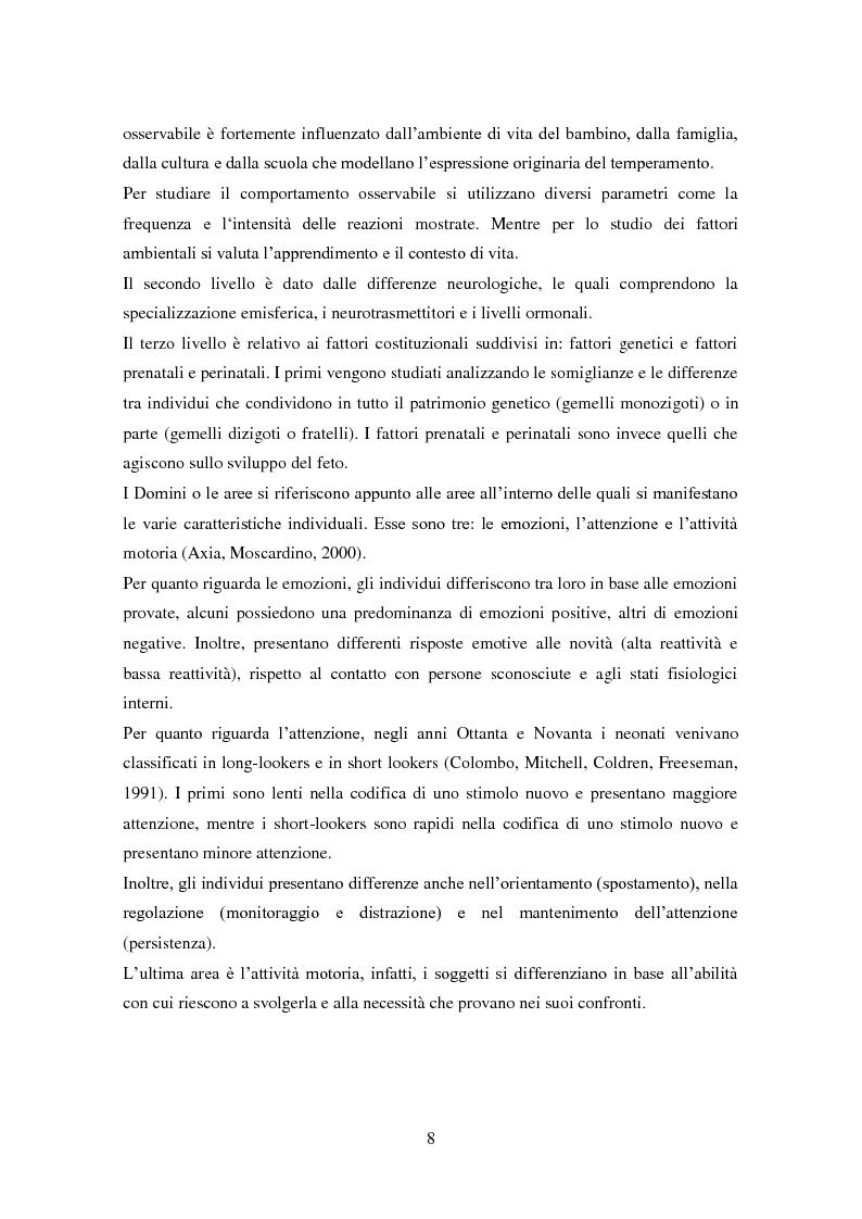 Anteprima della tesi: Differenze individuali e Teoria della Mente: il ruolo del Temperamento, Pagina 7