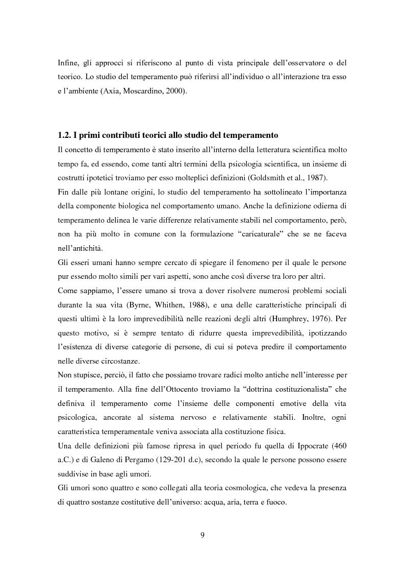 Anteprima della tesi: Differenze individuali e Teoria della Mente: il ruolo del Temperamento, Pagina 8