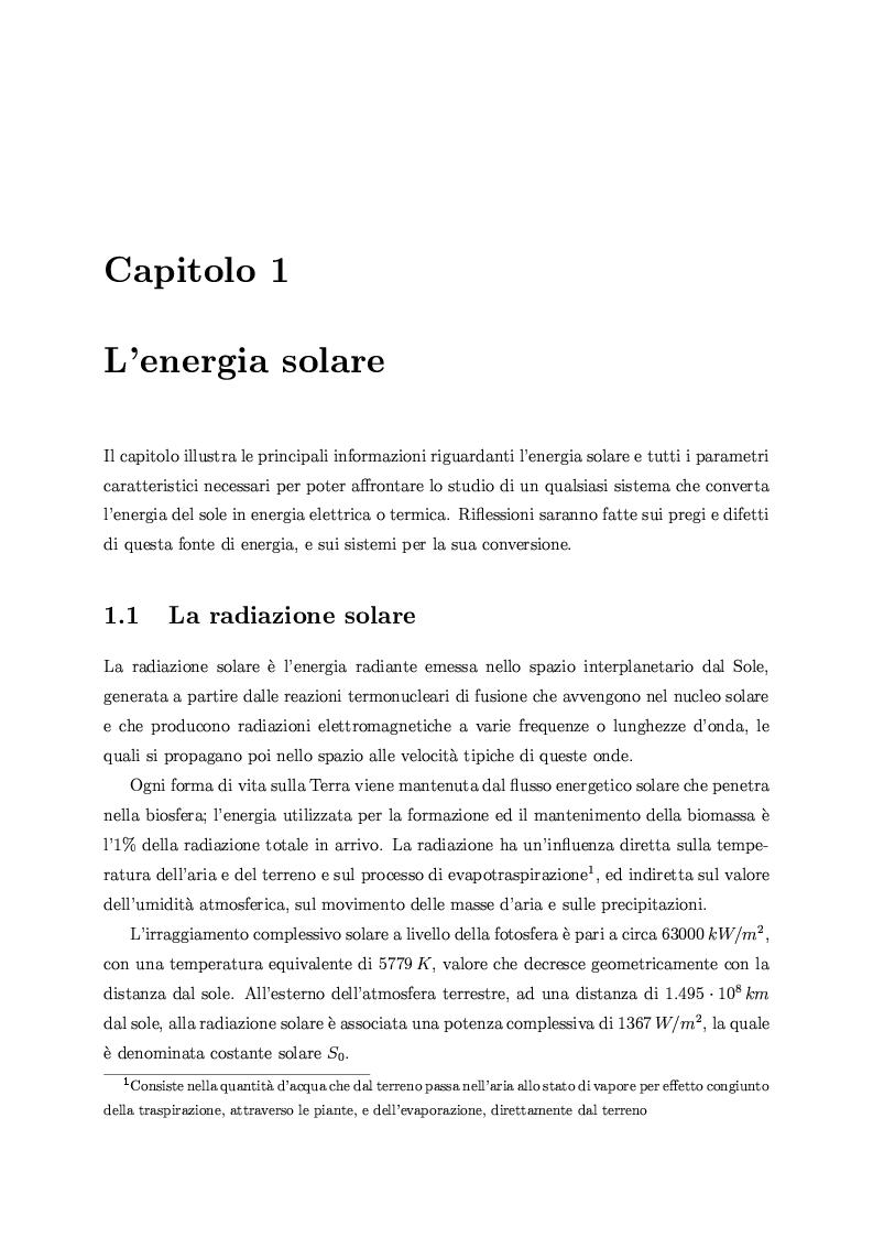 Anteprima della tesi: Studio sperimentale e numerico di sistemi fotovoltaici ibridi PV/T, Pagina 6