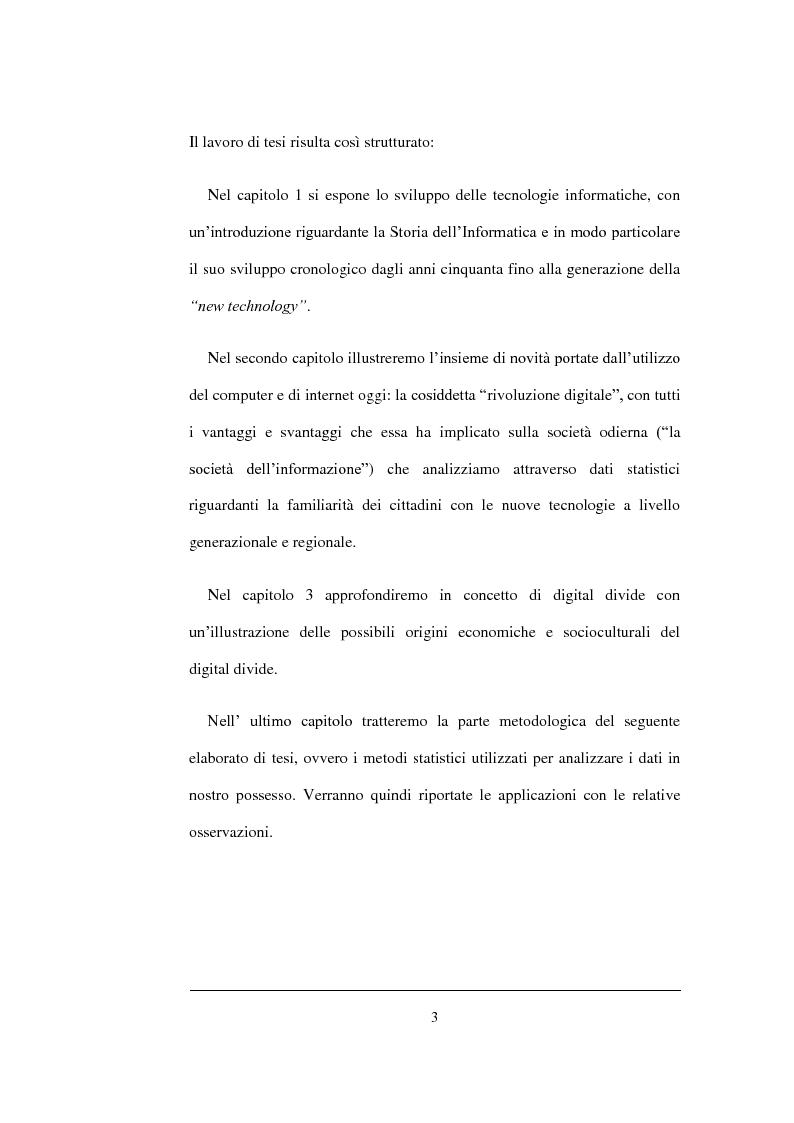 Anteprima della tesi: Un'analisi statistica sul Digital Divide in Italia, Pagina 4