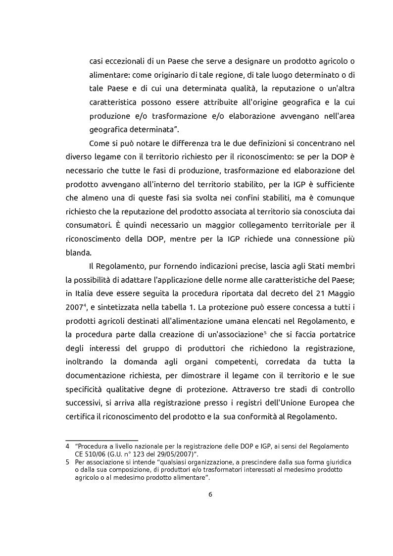 Estratto dalla tesi: Le indicazioni geografiche come beni di club