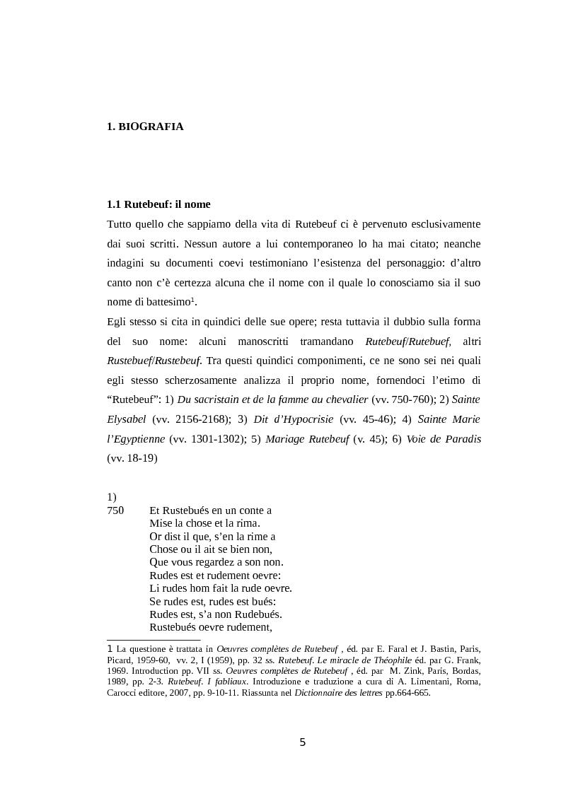 Anteprima della tesi: La rima equivoca in Rutebeuf, Pagina 2
