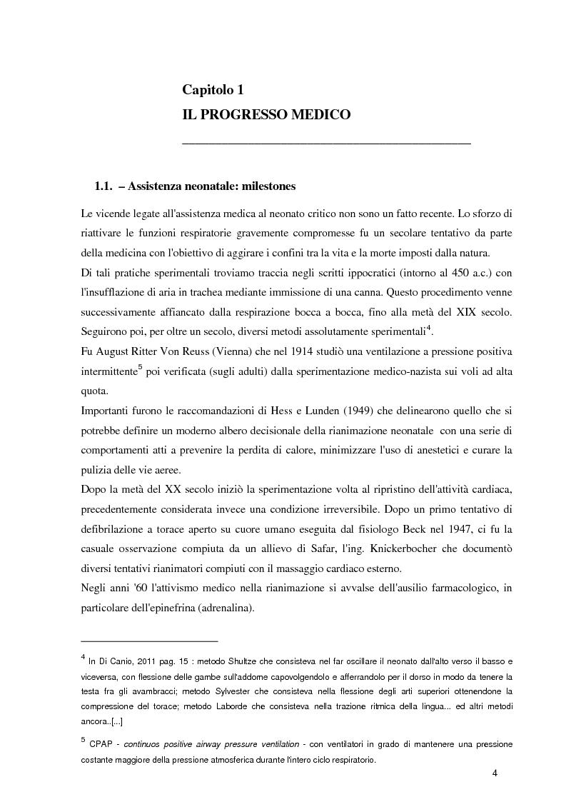Anteprima della tesi: Orientamenti etici nelle terapie intensive neonatali, Pagina 2