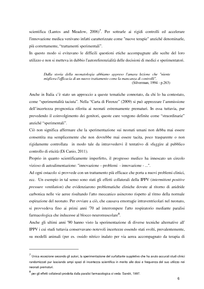 Anteprima della tesi: Orientamenti etici nelle terapie intensive neonatali, Pagina 4