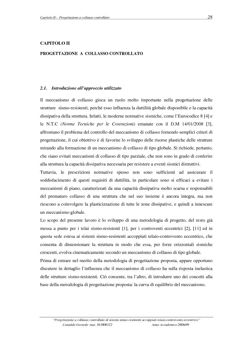 Estratto dalla tesi: Progettazione a collasso controllato di sistemi sismo-resistenti accoppiati telaio- controvento eccentrico