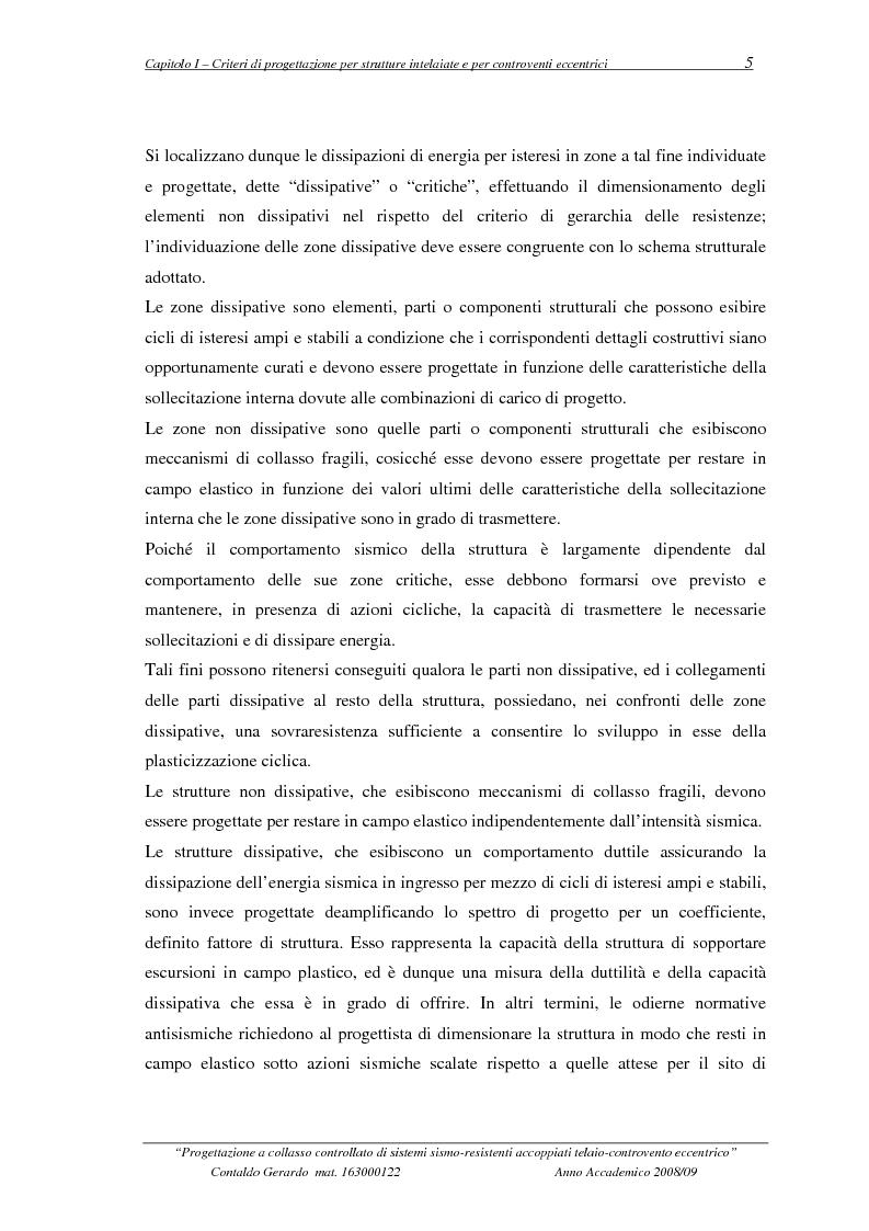 Anteprima della tesi: Progettazione a collasso controllato di sistemi sismo-resistenti accoppiati telaio- controvento eccentrico, Pagina 6