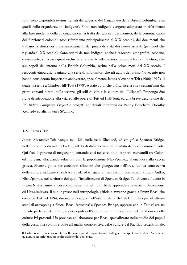 Anteprima della tesi: Ucwalmicw T'micw, la nostra terra: dinamiche di gestione fondiaria dei territori indigeni in British Columbia, Pagina 7