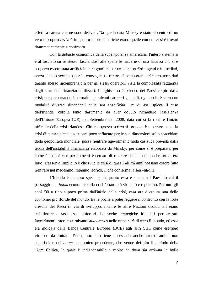 Anteprima della tesi: Instabilità e crisi finanziaria: il caso dell'Irlanda, Pagina 3