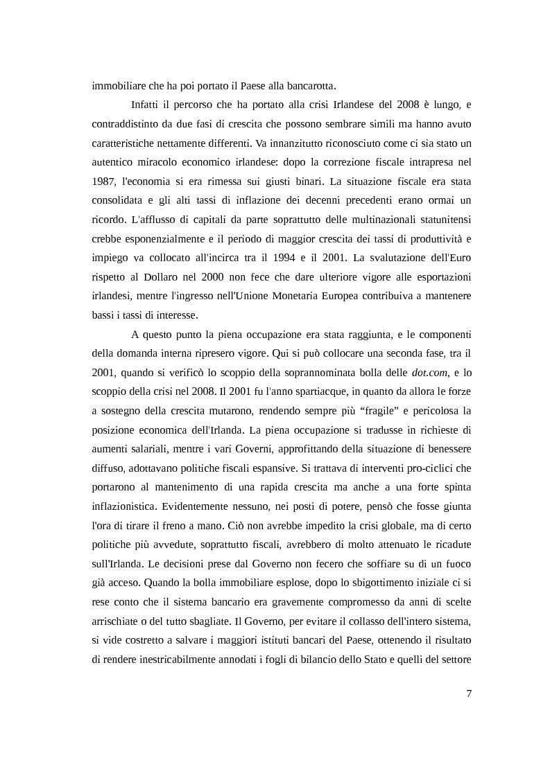 Anteprima della tesi: Instabilità e crisi finanziaria: il caso dell'Irlanda, Pagina 4