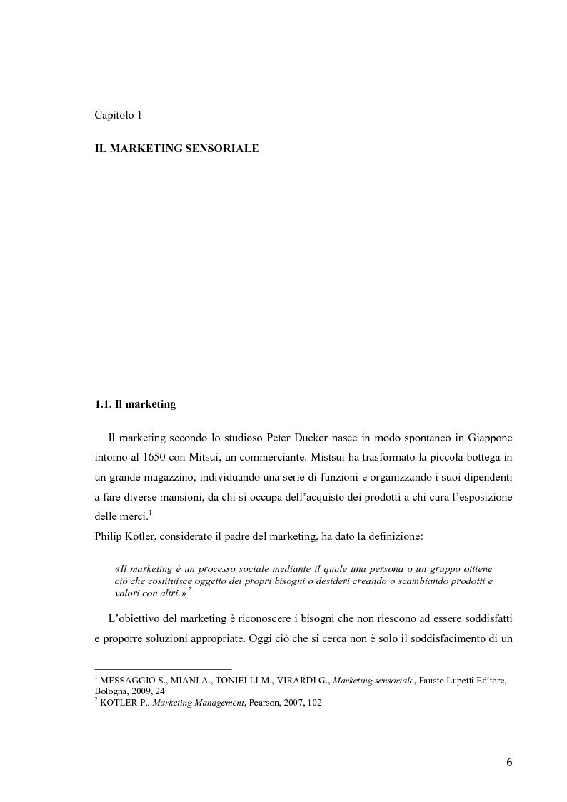 Anteprima della tesi: Il marketing sensoriale: analisi e ricerca dei 5 sensi nella comunicazione, Pagina 3