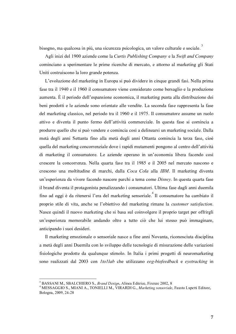 Anteprima della tesi: Il marketing sensoriale: analisi e ricerca dei 5 sensi nella comunicazione, Pagina 4