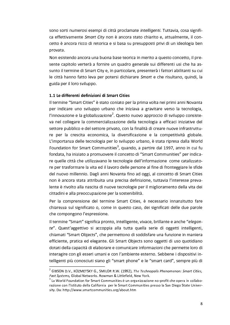 Anteprima della tesi: Smart Cities. Definizioni e confronti, Pagina 6