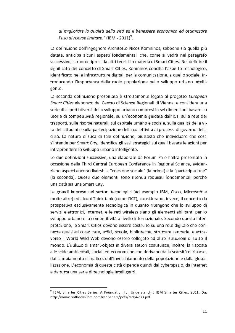 Anteprima della tesi: Smart Cities. Definizioni e confronti, Pagina 9