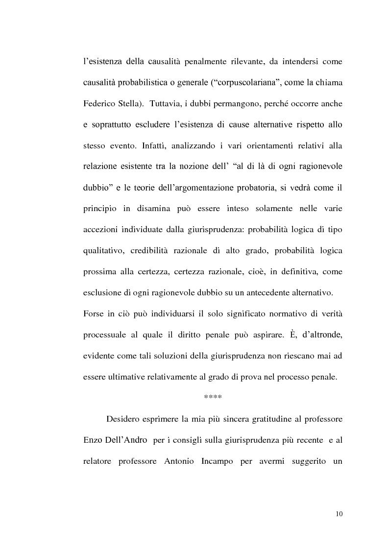 Anteprima della tesi: ''Oltre ogni ragionevole dubbio'' filosofia e fenomenologia del processo penale, Pagina 9