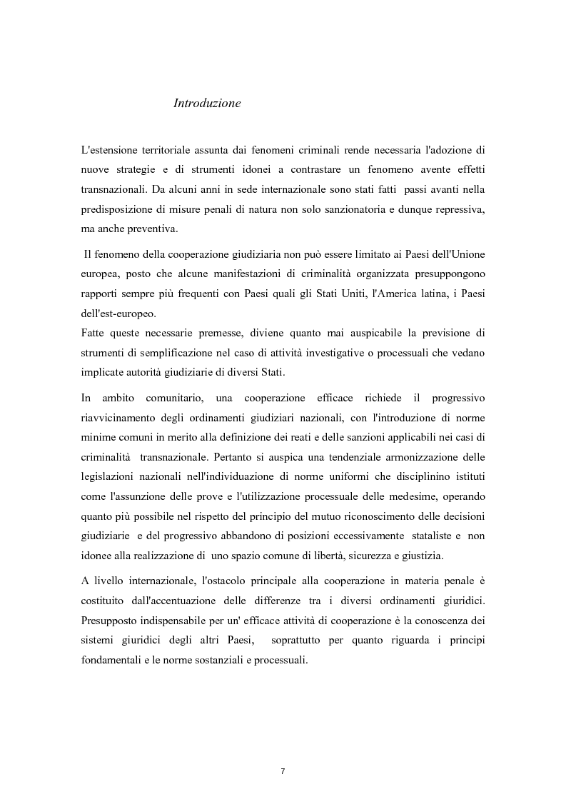 Anteprima della tesi: Cooperazione Internazionale e lotta alla criminalità organizzata, Pagina 2