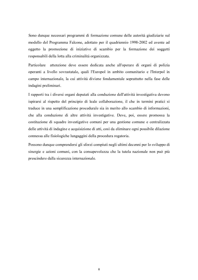 Anteprima della tesi: Cooperazione Internazionale e lotta alla criminalità organizzata, Pagina 3