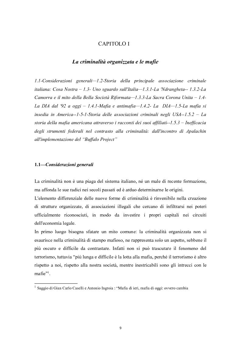 Anteprima della tesi: Cooperazione Internazionale e lotta alla criminalità organizzata, Pagina 4