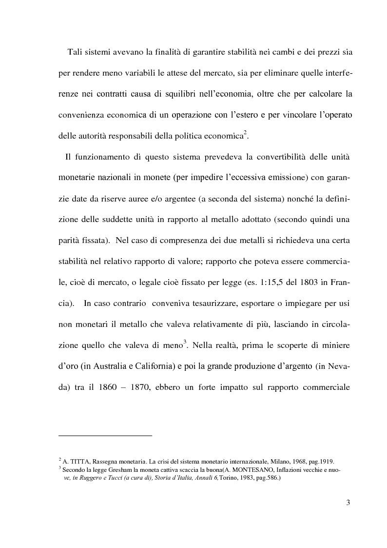 Anteprima della tesi: Gli accordi di Bretton Woods - Origini e funzionamento, Pagina 3