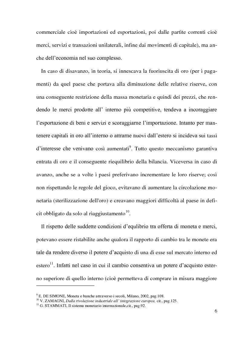 Anteprima della tesi: Gli accordi di Bretton Woods - Origini e funzionamento, Pagina 6