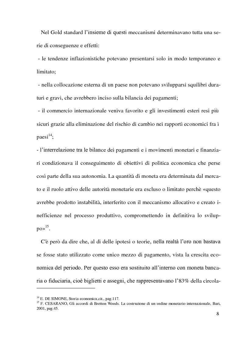 Anteprima della tesi: Gli accordi di Bretton Woods - Origini e funzionamento, Pagina 8